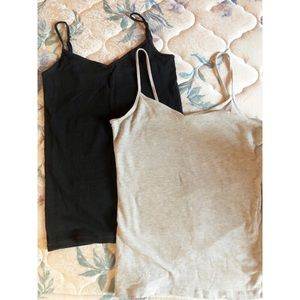 GREY AND BLACK TANK TOPS 💓